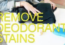 remove deodorant stains